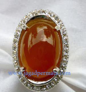 Paparaca Ring Alpaka brown chalcedony jp292 jual batu permata hobi permata
