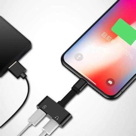 iphone xs max xr headphone aux adapter dual charger for apple iphone xs max xr adapter audio