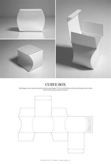 curved box template packaging dielines ii the designer s book of packaging