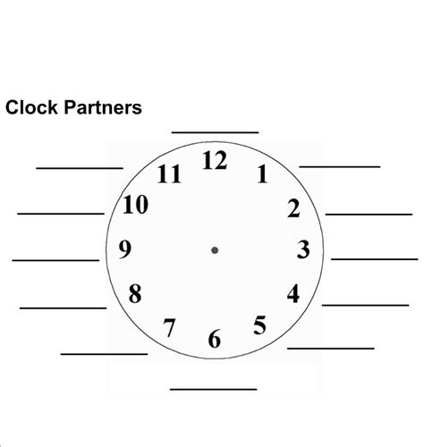 printable clock partners appointment clock mistercooke s teaching blog
