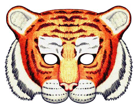 How To Make A Tiger Mask Out Of Paper - 6 best images of tiger animal mask printable paper plate