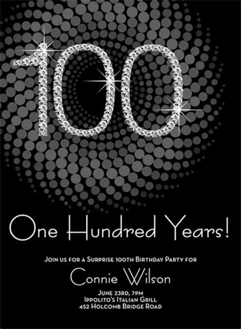 100th birthday card template numbers 100th milestone birthday invitations by