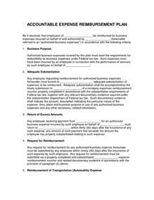 accountable plan template best photos of reimbursement plans