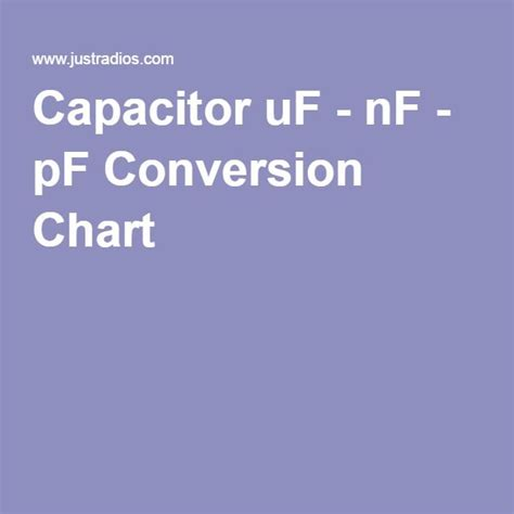 capacitor uf nf pf conversion 17 best images about tech talk on electrolytic capacitor cable and power tools
