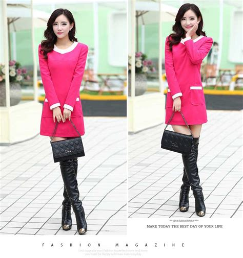 Dress Pink Wanita dress wanita warna pink korea 2015 myrosefashion