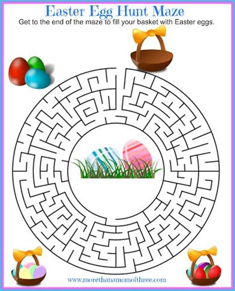 printable easter egg puzzle fun printable easter activities for kids maze and