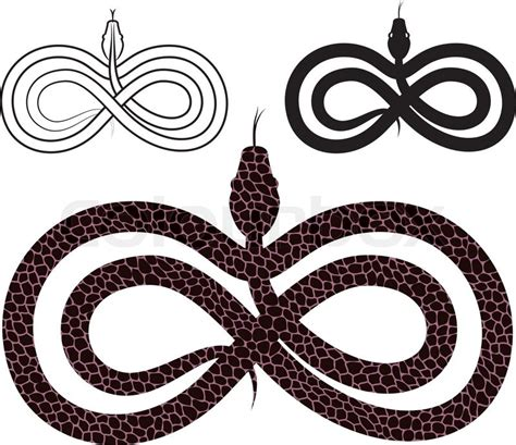 infinite tattoo vector quot options for images snake infinity sign quot stock vector