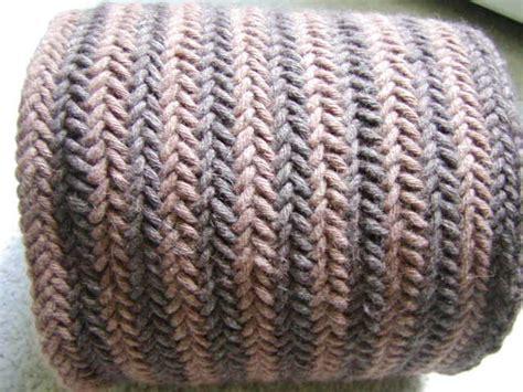 knitting pattern herringbone scarf knits men want reversible herringbone scarf