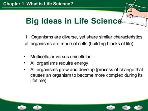 section 1 1 what is science life science chapter 1 section 2 the study of life