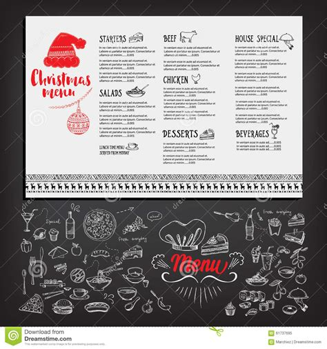 christmas lunch invite christmas party invitation restaurant food flyer stock