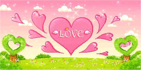 imagenes de paisajes kawaii gifs animados con corazones y arco iris