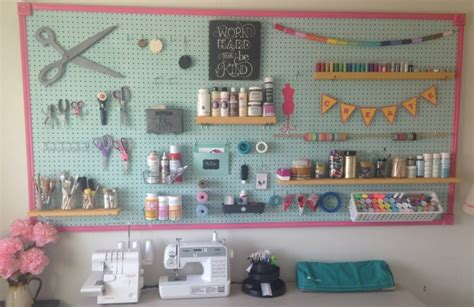 Ideas To Organize Kitchen diy pegboard project how to organize craft supplies
