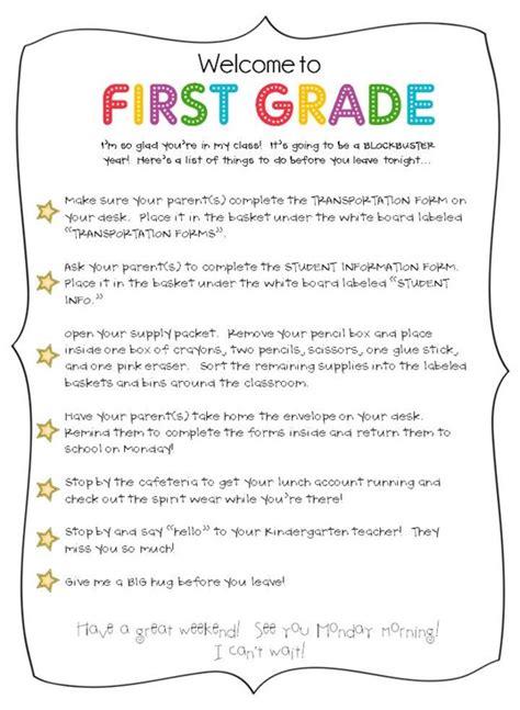 meet the teacher ideas downloads the first grade parade