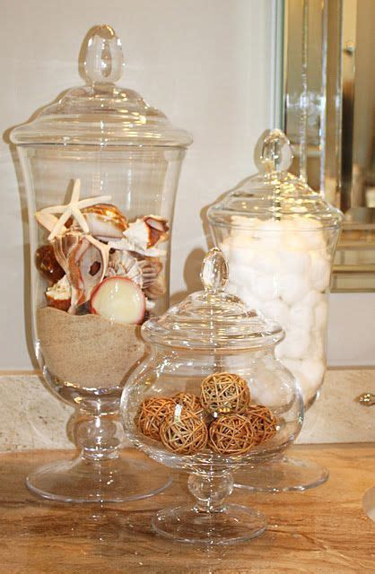 bathroom apothecary jar ideas ideas for accessorizing my future coastal living inspired master bath for the home