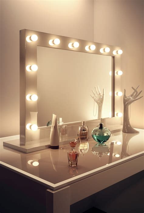 high gloss white make up theatre dressing room