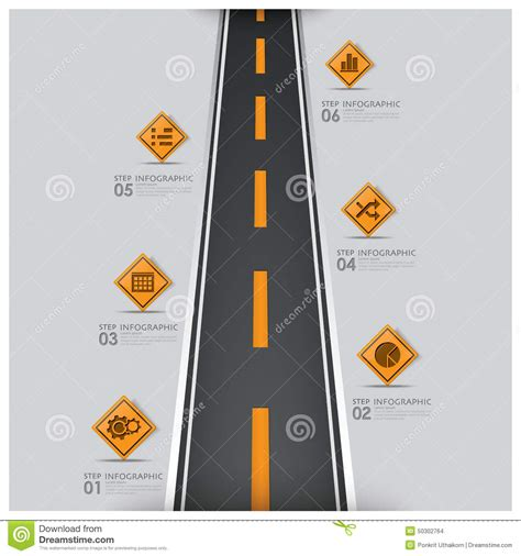 road and street traffic sign business infographic stock