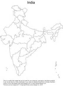 India Maps Outlines Blank by Blank Map Of India