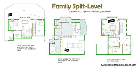 4 level side split house plans if walls could dream family split level