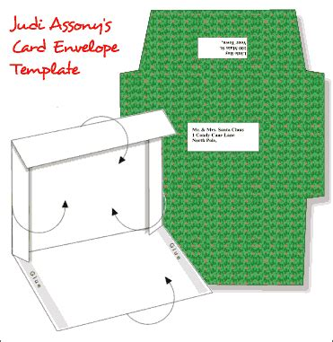 greeting card envelope printing template templates