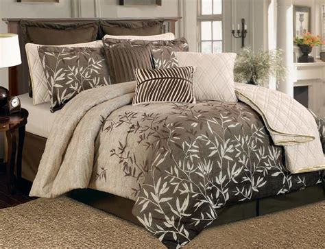 12 pc new bedding floral beige brown comforter quilt set
