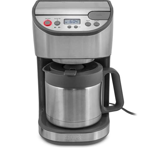 krups coffee maker krups programmable steel carafe coffee maker refurbished