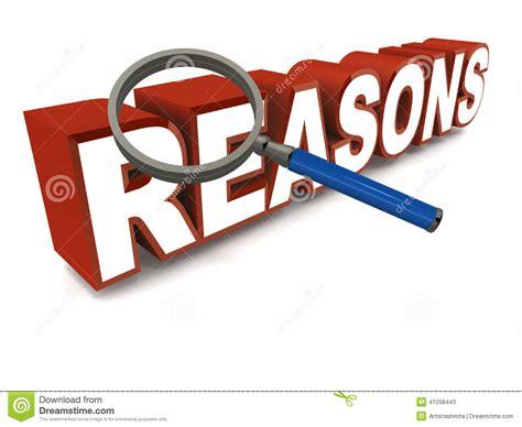 Reason For Reasons Stock Illustration Image 41098443