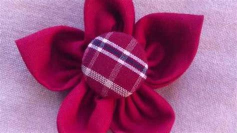 fiori fai da te di stoffa crea una spilla a forma di fiore di stoffa fai da