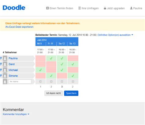 doodle umfrage erstellen so einfach kann eine doodle umfrage erstellen giga