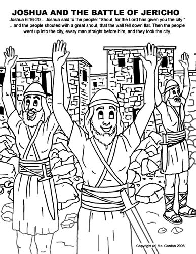 joshua jericho and the promissed land coloring pages