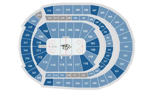 bridgestone arena seating chart concerts seating charts bridgestone arena