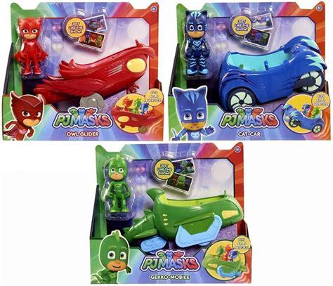 Pj Masks Light Up Figure With Bracelet Owlette just play pj masks lot of 3 vehicles w figures catboy gekko owlette new ebay