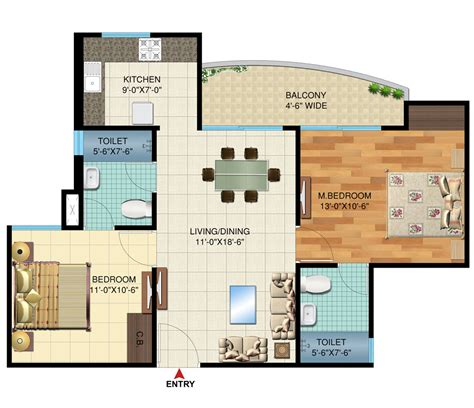 2bhk house design plans the cadence bhiwadi the cadence floor plan bhiwadi