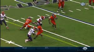 The Blind Side Football Player Arizona Safety Cleaned Out By Utsa Receiver S Huge Block