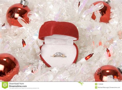 christmas engagement ring stock photo image of ornaments