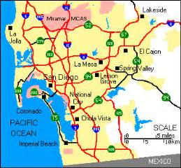 San Diego Freeway Map by Highway Map Of San Diego And Imperial Counties
