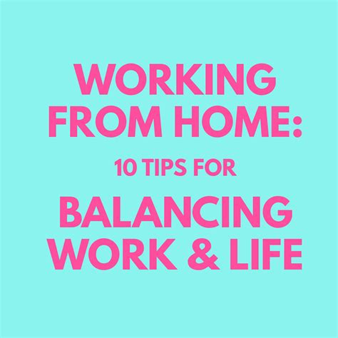 wonderlass working from home 10 tips for balancing work