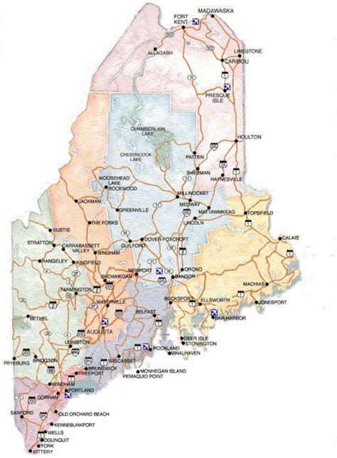 map maine maine maps and state information