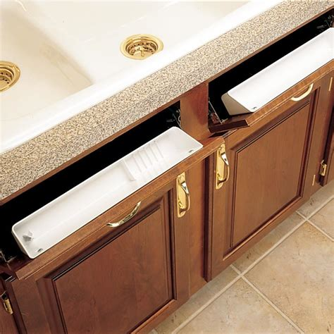 Kitchen Sink Storage Trays Rev A Shelf Standard Accessory Sink Trays With Hinges 6572 11 11 52 Cabinetparts