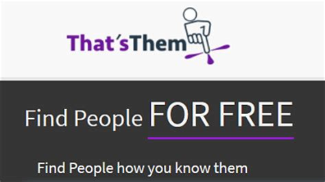 Find Peoples Info For Free Ways To Search The Thatsthem Site To Find A Person