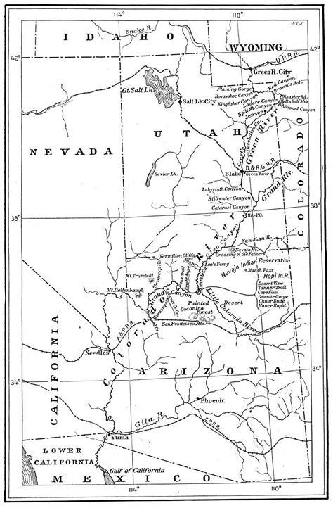 map grand colorado river 1914 grand and colorado river map grand