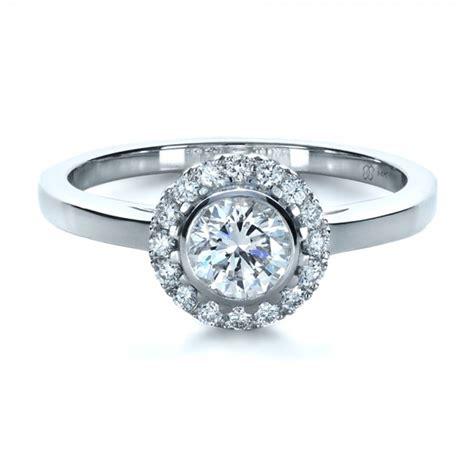 custom bezel engagement ring 1229 bellevue seattle joseph