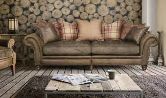 Leather And Fabric Sectional Sofa Wordsworth Leather And Fabric Sofa Range