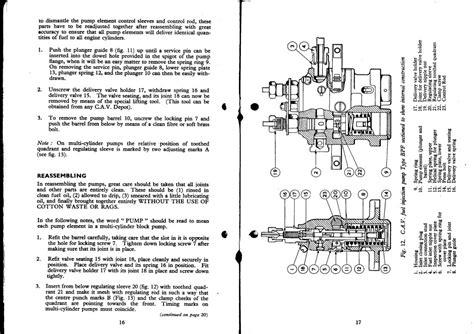cav injector diagram 9 best images of cav injector diagram cav injection