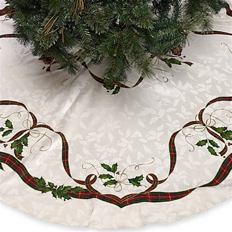 bed bath and beyond christmas tree lenox 174 holiday nouveau christmas tree skirt bed bath