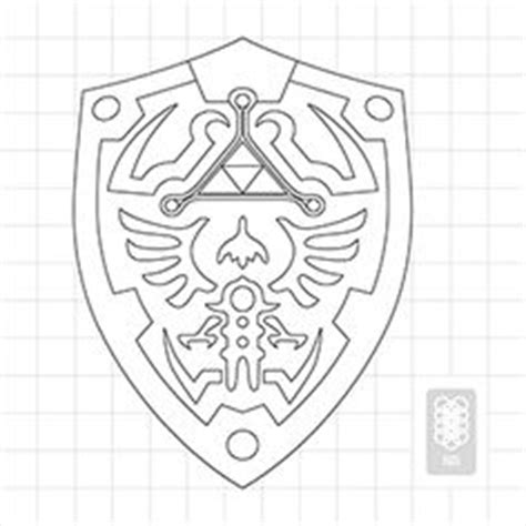 Hylian Shield Outline by Link Costume On Makeup And Black