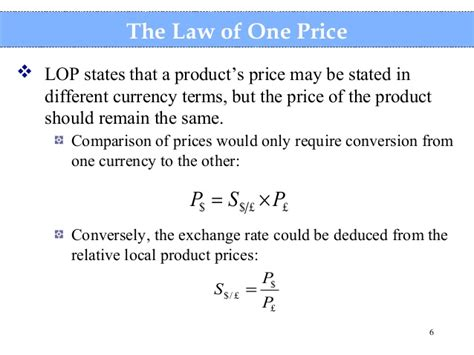 one price fisher effect
