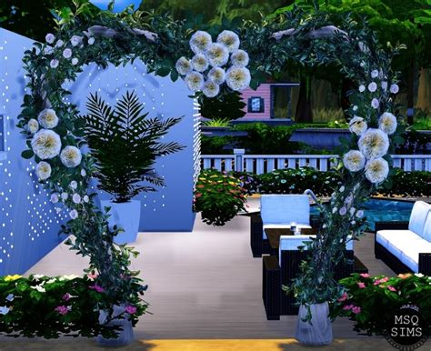 Wedding Arch On Sims 3 by Wedding Arch Modern Ts3 To Ts4 At Msq Sims 187 Sims 4 Updates