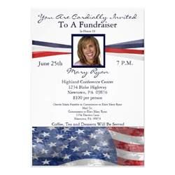 political fundraiser invitation with photo 5 quot x 7 quot invitation card zazzle