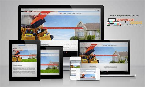 responsive design mockup online handyman abbotsford surrey web design online marketing