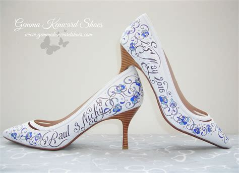 painted shoes heels